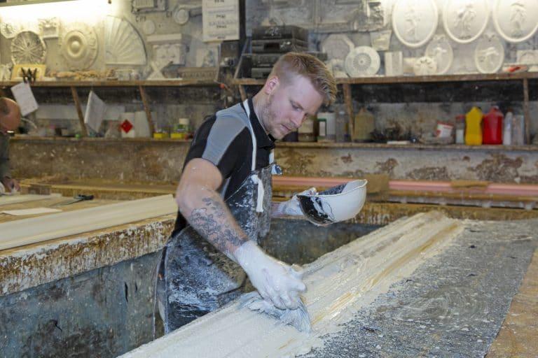 image of plaster cornice manufacture