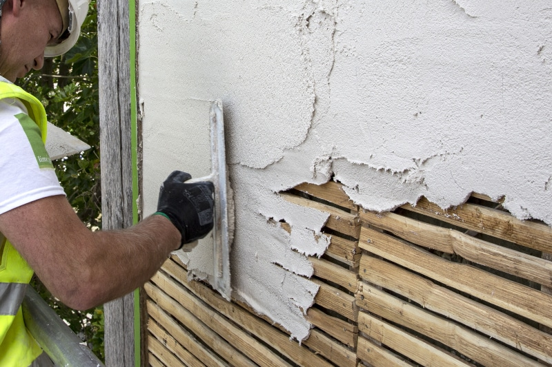 image of lath and plaster application