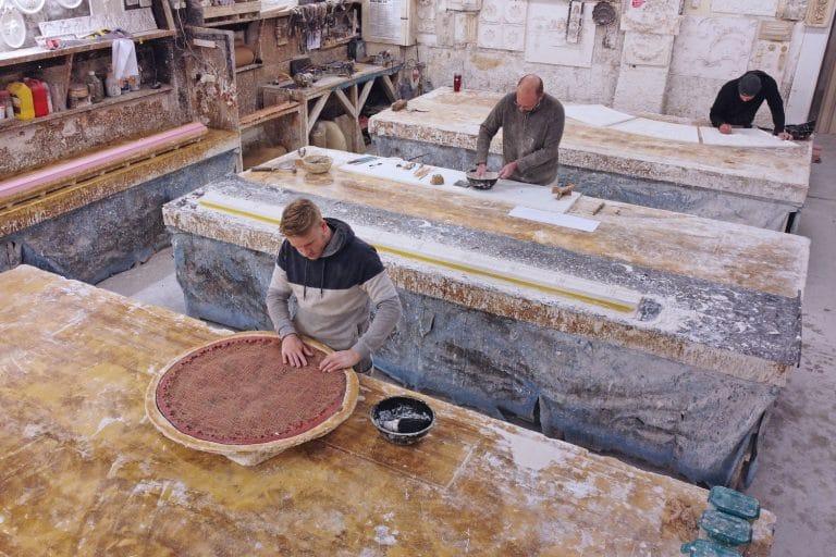 elevated image of plasterite workshop