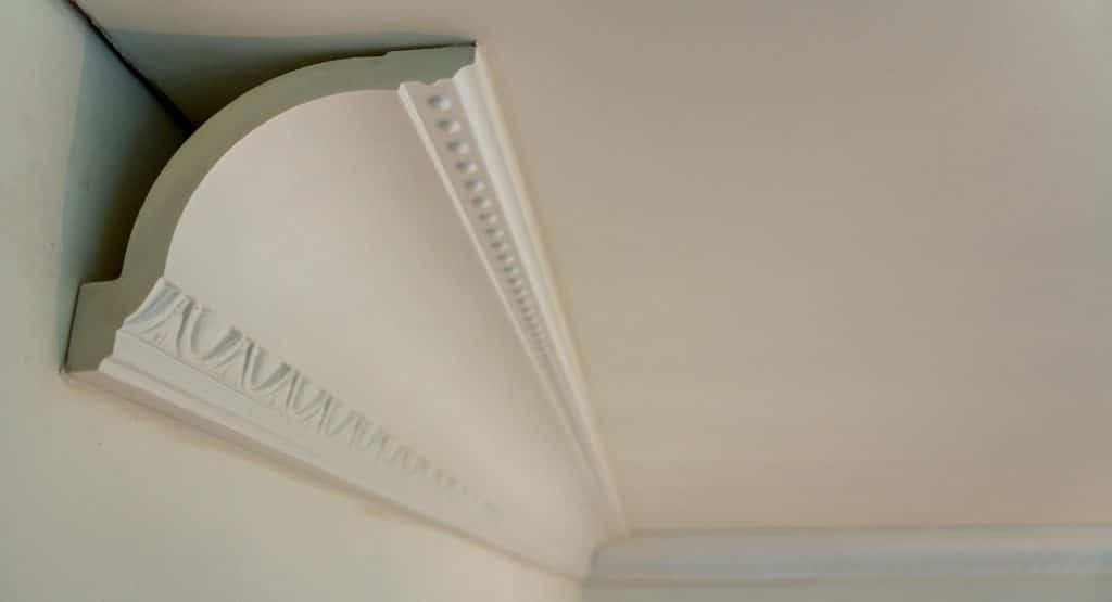 image of plaster coving cutaway to show moulded profile