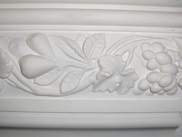 image of vine and berry plaster detail