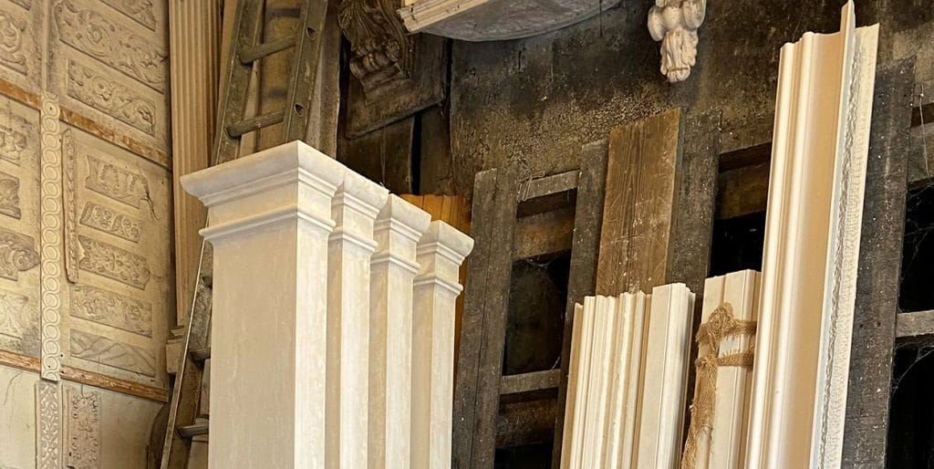 image of plaster moulded pilasters