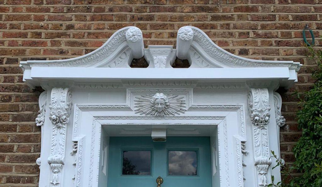 image of decorative front door moulding