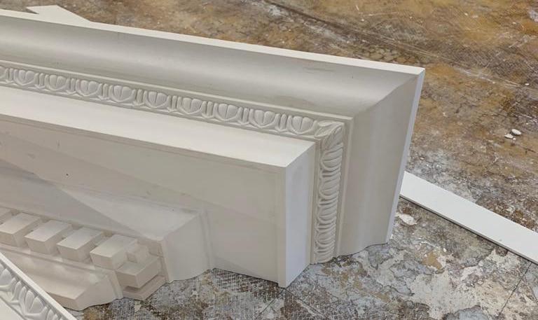 image of door pediment in plaster